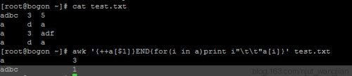 Linux之awk中 !a[src=