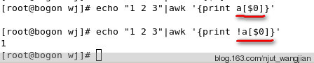 Linux之awk中 !a[data-echo=