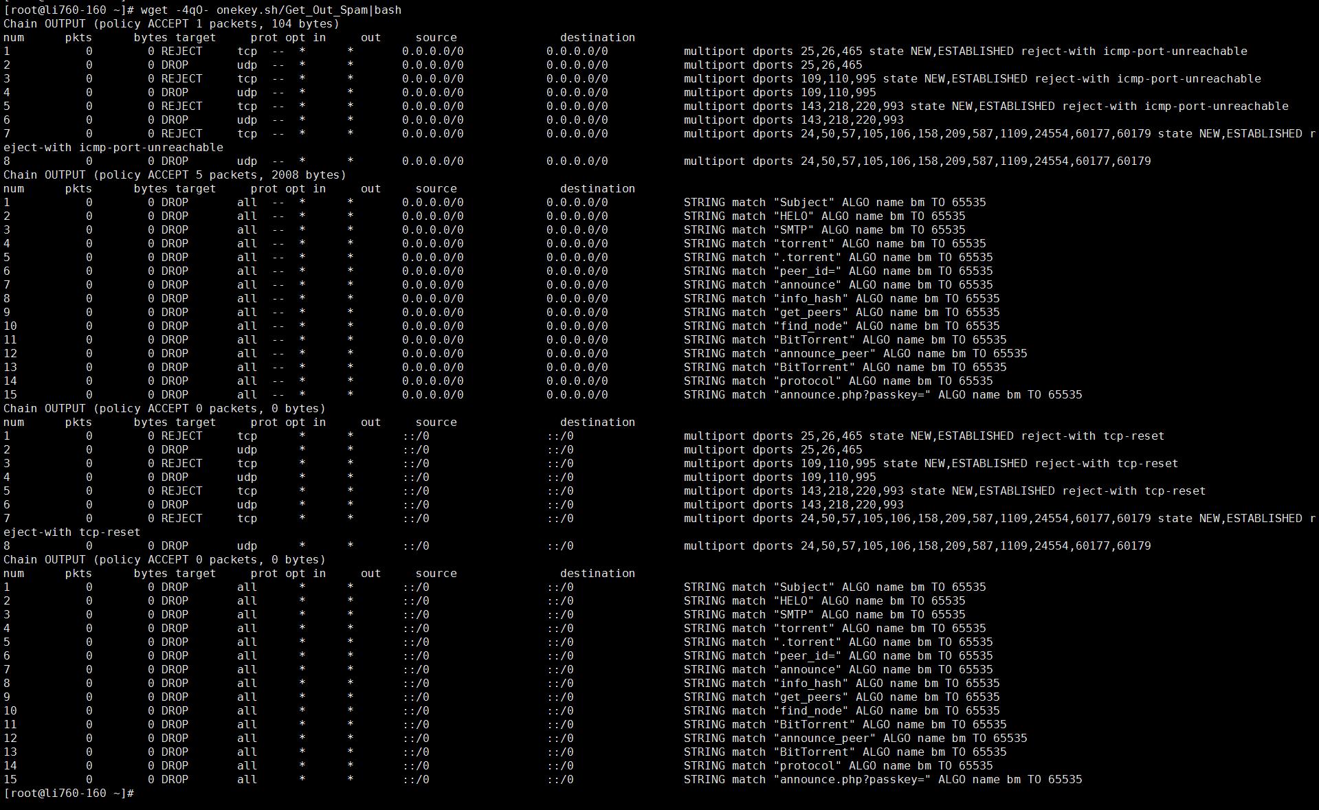 Linux之CentOS上封邮件发出实现防SPAM和BT、PT
