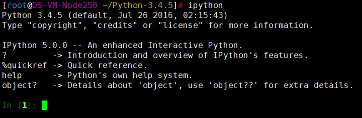 Linux之CentOS 7 安装Python 3.4.5 和iPython 5.0