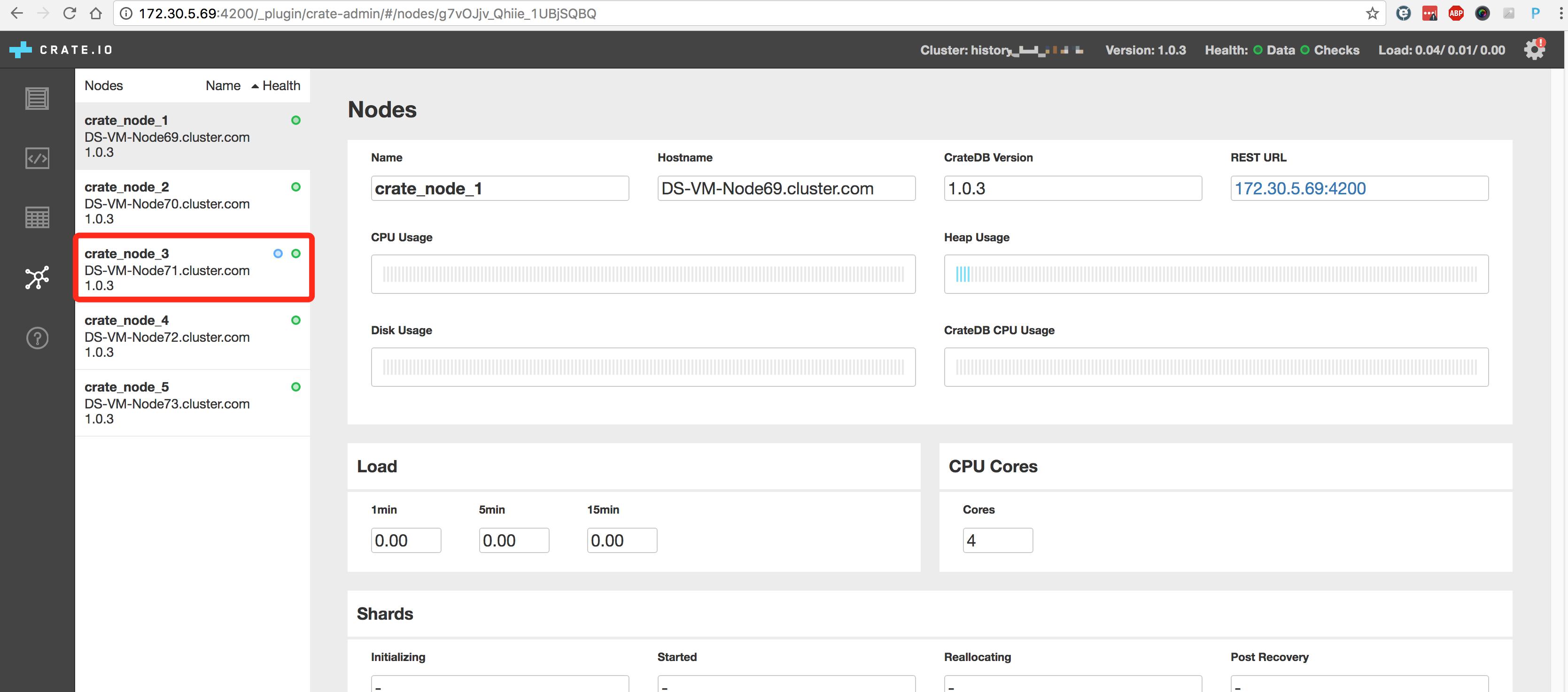 Linux之CentOS 7 安装CrateDB集群