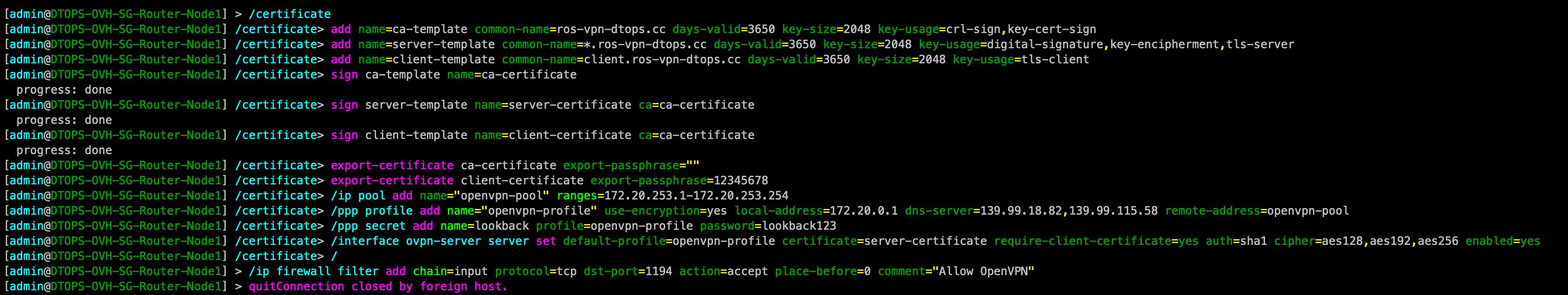 基于Mikrotik的RouterOS路由搭建OpenVPN服务